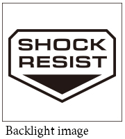 SHOCK RESIST EL backlight